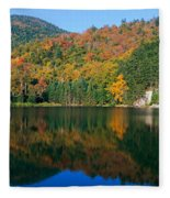 Panoramic View Of Crawford Notch State Fleece Blanket