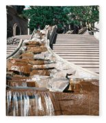 Panoramic View Of Stairs And Waterfall Fleece Blanket