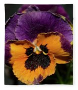 Pansie Fleece Blanket