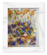 Pansies And Lillies Fleece Blanket