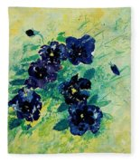 Pansies Fleece Blanket