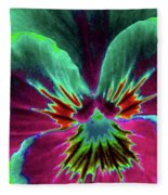 Pansy 01 - Photopower - Thoughts Of You Fleece Blanket