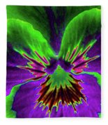 Pansy 02 - Photopower - Thoughts Of You Fleece Blanket