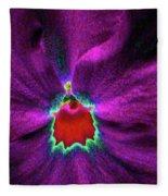 Pansy 03 - Photopower - Thoughts Of You Fleece Blanket