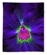 Pansy 05 - Photopower - Thoughts Of You Fleece Blanket