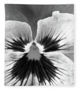 Pansy 06 Bw - Thoughts Of You Fleece Blanket