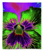 Pansy 06 - Photopower - Thoughts Of You Fleece Blanket