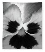 Pansy 09 Bw - Thoughts Of You Fleece Blanket
