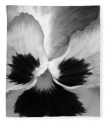 Pansy 10 Bw - Thoughts Of You Fleece Blanket