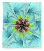 Pansy Fractal Fleece Blanket