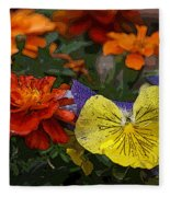 Pansy Play Fleece Blanket