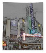 Pantages Theater Hollywood Fleece Blanket