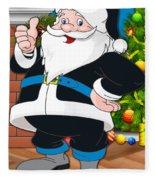 Panthers Santa Claus Fleece Blanket