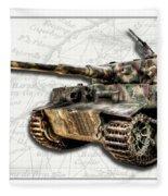Panzer Tiger I Side Fleece Blanket