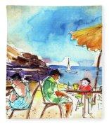 Papagayo Beach Bar In Lanzarote Fleece Blanket