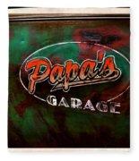 Papa's Garage Fleece Blanket