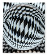 Paper Straw Patterns Fleece Blanket