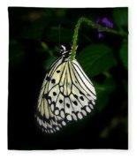 Paperwhite Butterfly Fleece Blanket
