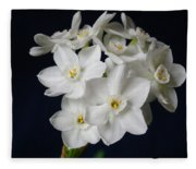 Paperwhites Fleece Blanket