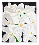 Paperwhites Fleece Blanket
