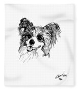 Papillon Fleece Blanket