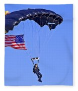 Parachutist Fleece Blanket