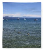 Parade Of Geese Fleece Blanket