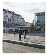 Paradeplatz - Bahnhofstrasse, Zurich Fleece Blanket