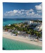 Paradise - Isla Mujeres - Playa Norte, Aerial Image Fleece Blanket