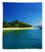 Paradise Island Haiti Fleece Blanket