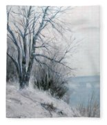 Paradise Point Bridge Winter Fleece Blanket