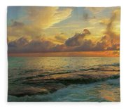 Paradise Sunset Fleece Blanket