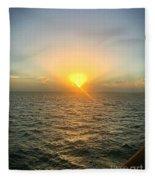 Paradise Sunset Oasis Fleece Blanket