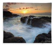 Paradise Sunset Splash Fleece Blanket