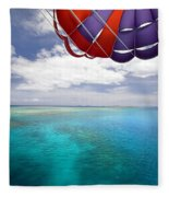 Parasail Over Fiji Fleece Blanket