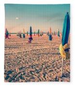 Parasols Of Deauville Fleece Blanket