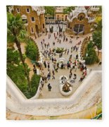 Parc Guell In Barcelona Fleece Blanket