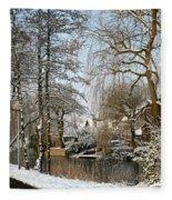 Walk In A Snowy Park Fleece Blanket