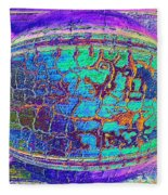 Parched Earth Abstract Fleece Blanket