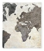 Parchment World Map Fleece Blanket