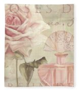 Parfum De Roses I Fleece Blanket