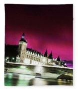Paris At Night 18 Art Fleece Blanket