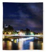 Paris At Night 23 Fleece Blanket