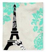 Paris Blues Fleece Blanket