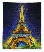 Paris By Night Fleece Blanket