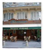 Paris Cafe Bistro Vivienne - Paris Cafes Bistro Restaurant-paris Cafe Galerie Vivienne Fleece Blanket