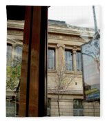 Paris Cafe Views Reflections Fleece Blanket
