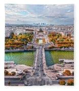 Paris City View 19 Art Fleece Blanket