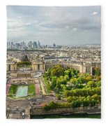 Paris City View 27 Fleece Blanket