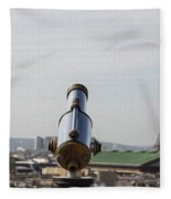 Paris City View 28 Fleece Blanket